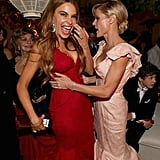 Sofia Vergara linked up with Julie Bowen at the Fox afterparty.