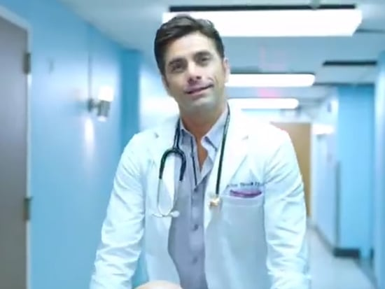 John Stamos Teases Steamy Shower Scene in Scream Queens