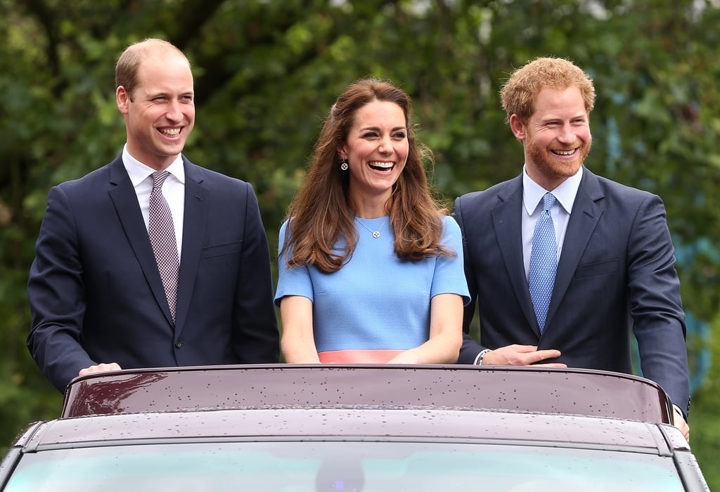 Her Outfit Popped as She Stood Beside Prince William and Prince Harry, Who Wore Dark Navy Suits