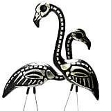 Skeleton Yard Flamingo Lawn Ornaments