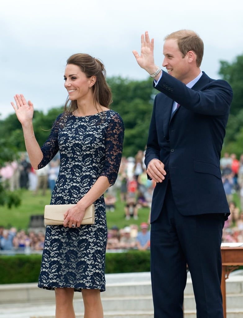 Kate Middleton and Prince William waved to fans in Canada.