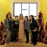 Lauren Conrad at holiday event at Kohl's.