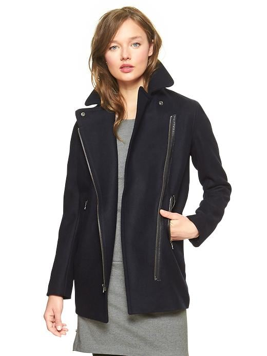 Gap's moto coat ($168) offers a cool riff on a classic silhouette.
