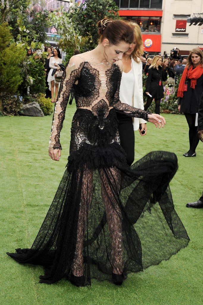 Kristen's gown had the most gorgeous movement — it got carried in the breeze.