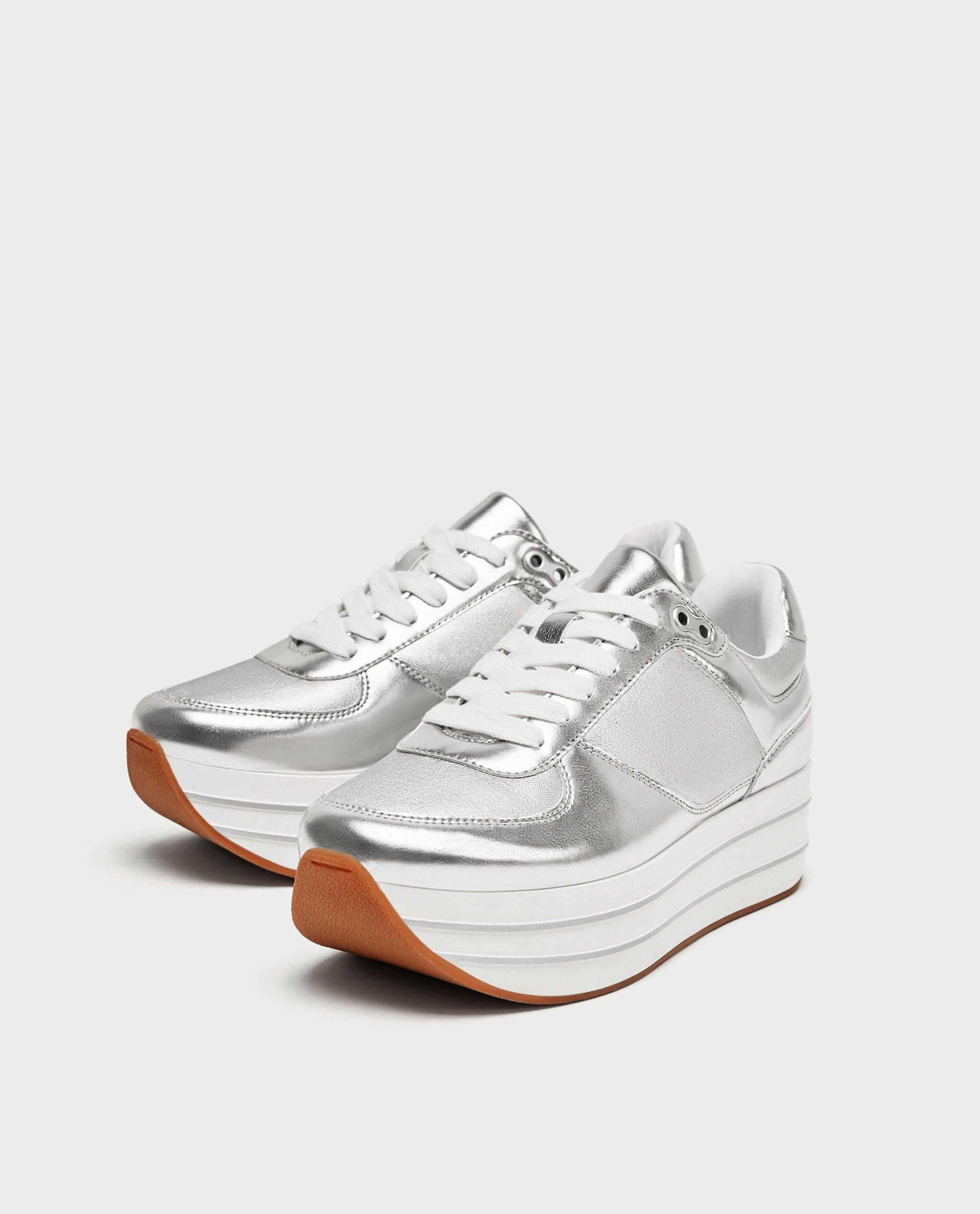Zara Silver Platform Sneakers   Gigi