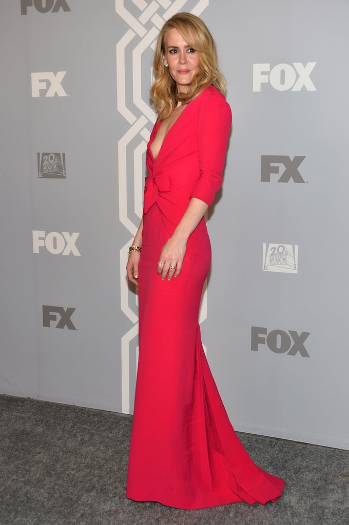 Sarah Paulson walked the carpet at the Fox/FX after party.