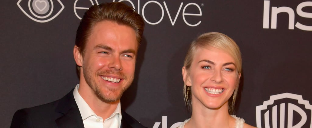 Derek and Julianne Hough Let Their Hair Down at a Golden Globes Afterparty