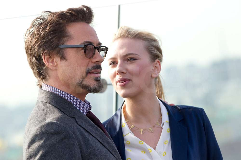 Scarlett Johansson and Robert Downey Jr. chatted while ...