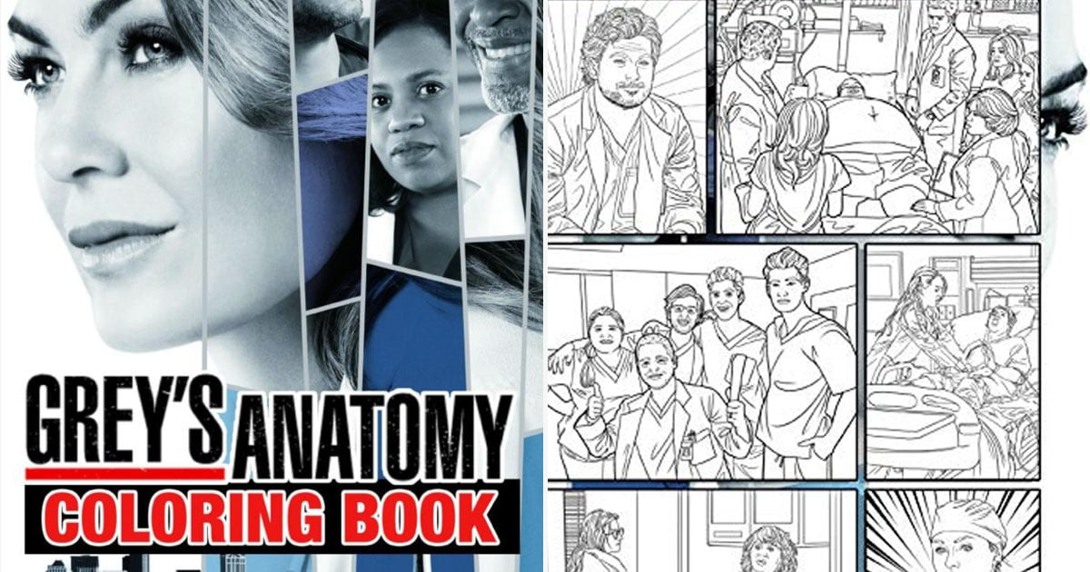 This Grey S Anatomy Coloring Book Is So Good Popsugar Smart Living