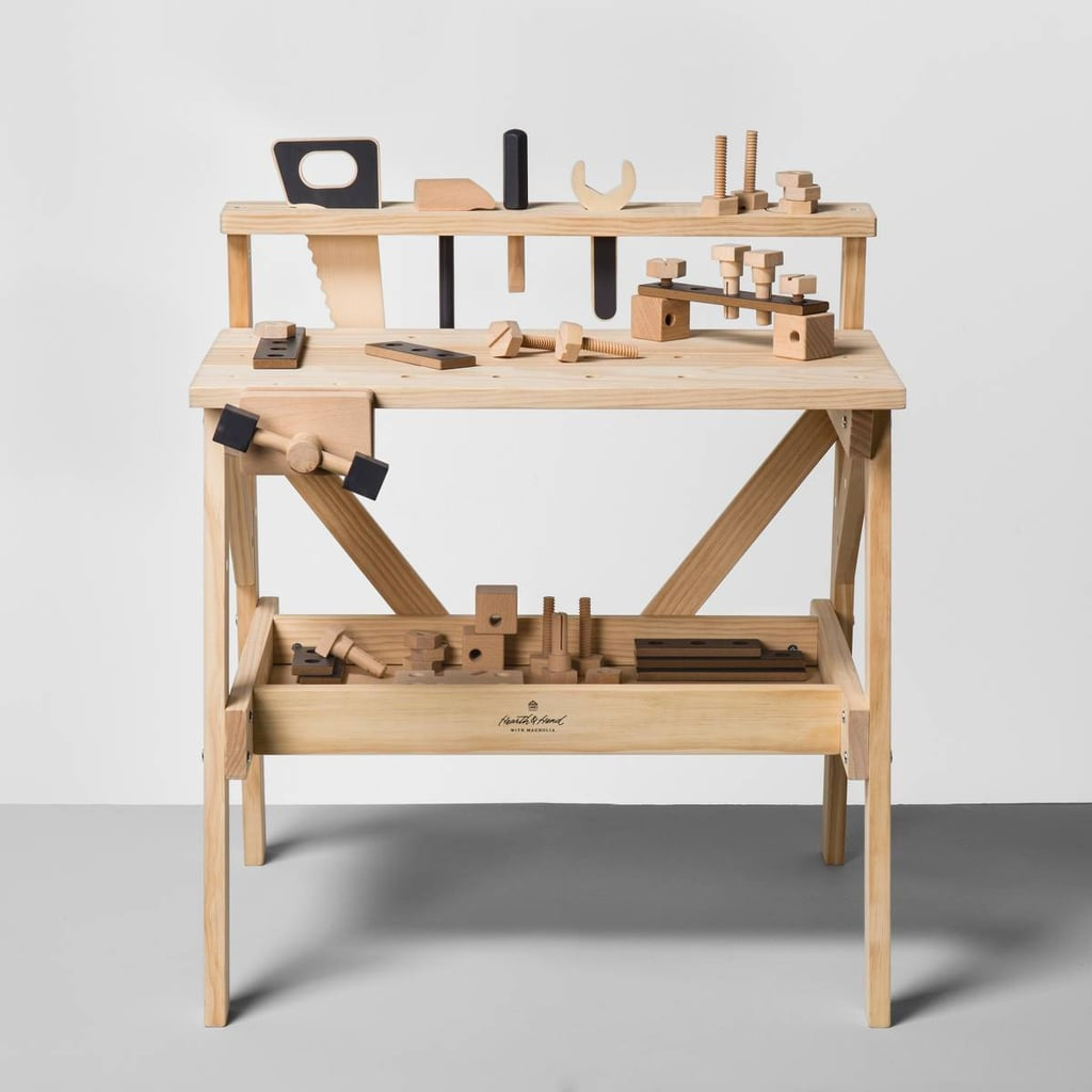 Hearth Hand With Magnolia Wooden Toy Tool Bench Joanna Gaines Target Collection Popsugar