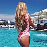 Charberry Flower One-Piece Swimsuit
