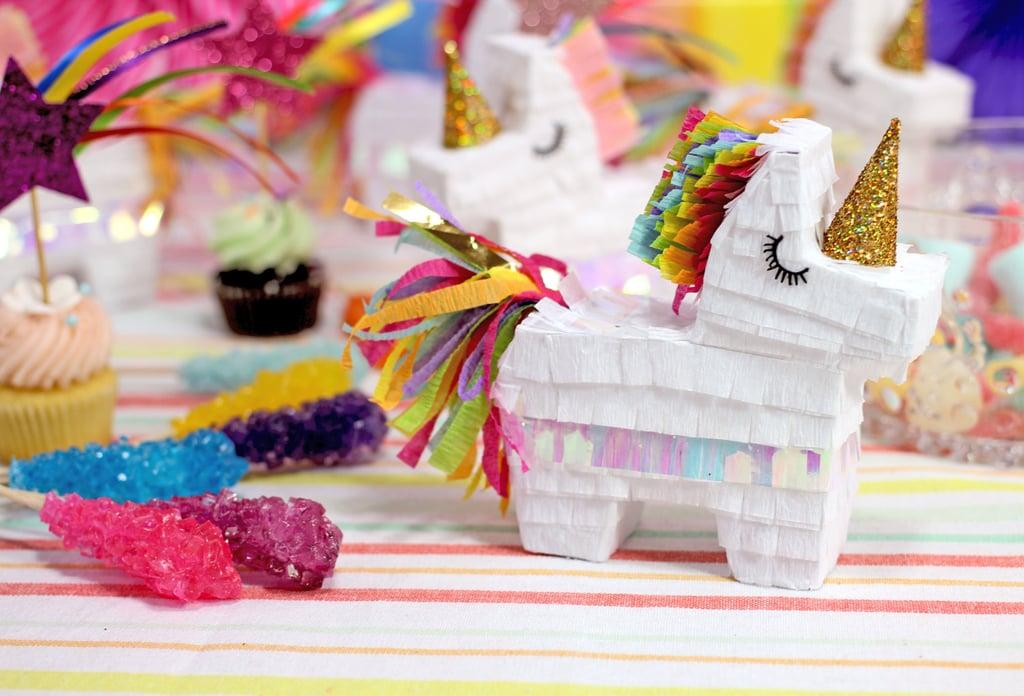 Mini Rainbow Unicorn Pinata ($29 for a set of three)