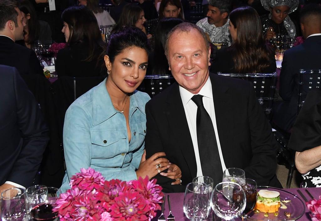 Priyanka Chopra's Suede Michael Kors Dress October 2018