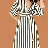 Forever 21 Plunging Striped Dress