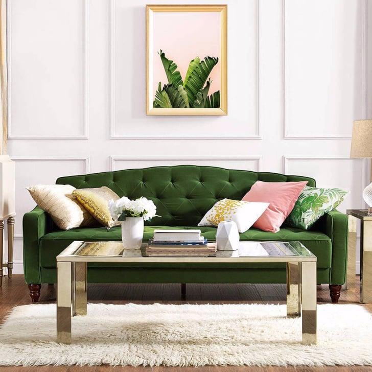 Novogratz Vintage Tufted Sofa Sleeper Ii Affordable Glam