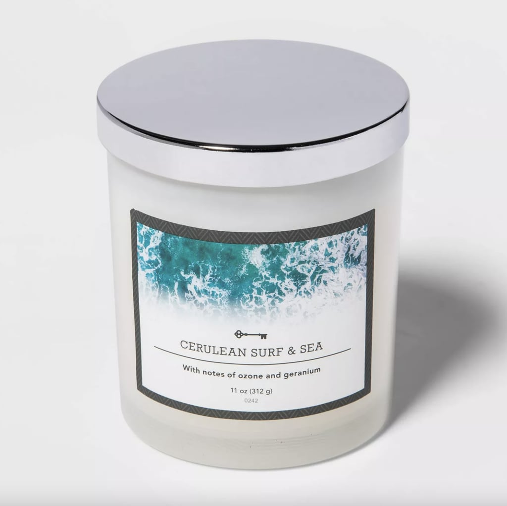 Surf and Sea Lidded Milky Glass Jar Candle
