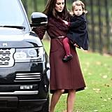 Kate Middleton Closing Her Door in 2016