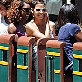 Halle Berry and Nahla Aubry beamed.