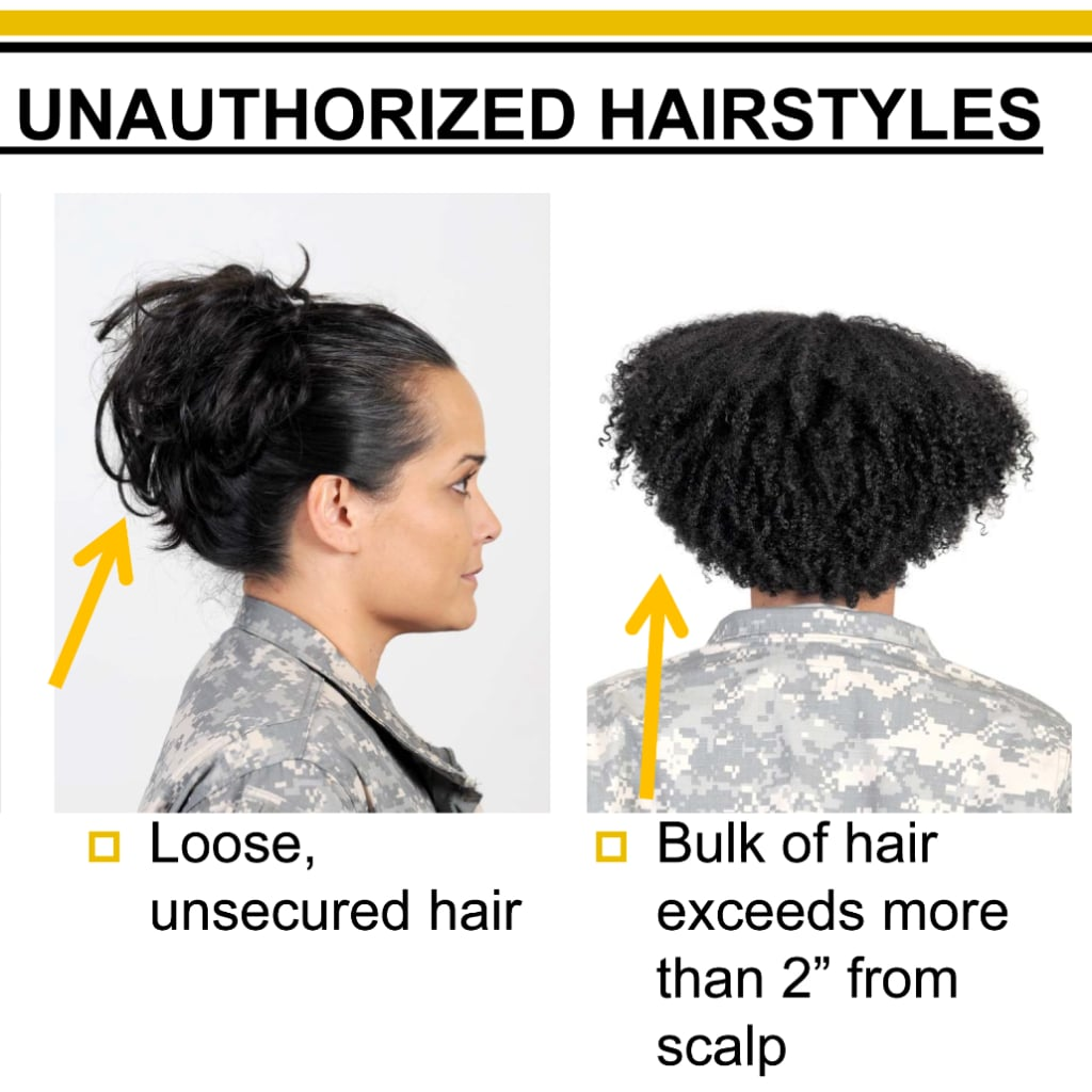 Women With Natural Hair Petition Army Regulation 670 1 Popsugar Beauty