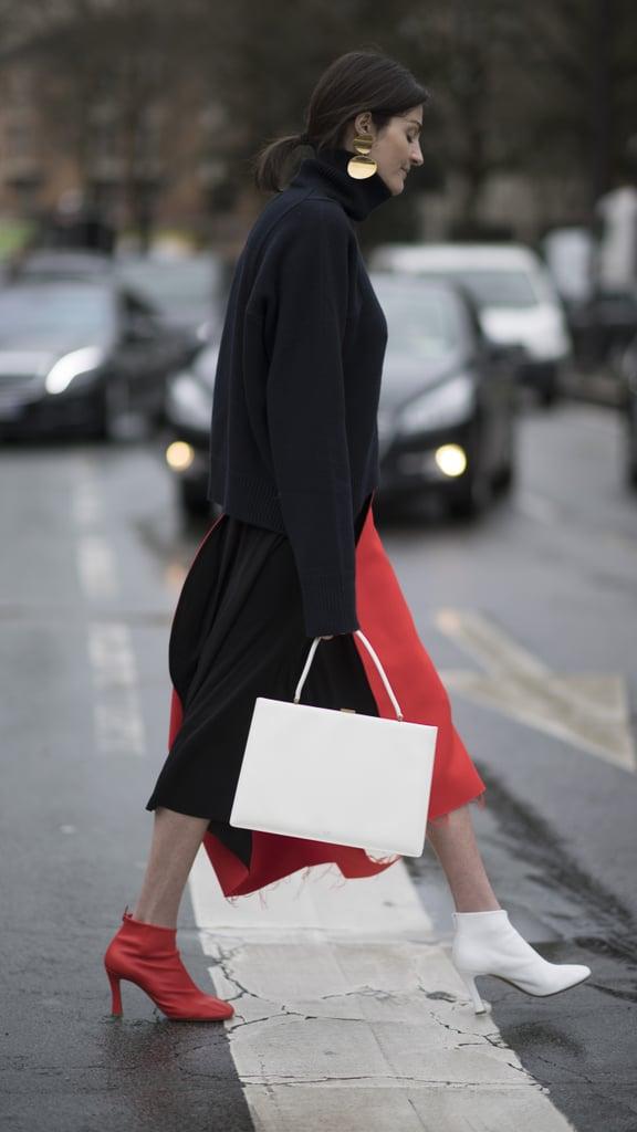 Mismatched shoe trend popsugar fashion australia Celine fashion street style