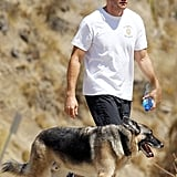 Jake took his dog for a walk around LA's Runyon Canyon in September 2011.