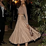 Bella Hadid in Dior Skirt and Top at Cannes 2019