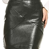 Zeagoo Classic High-Waisted Faux Leather Bodycon Pencil Skirt