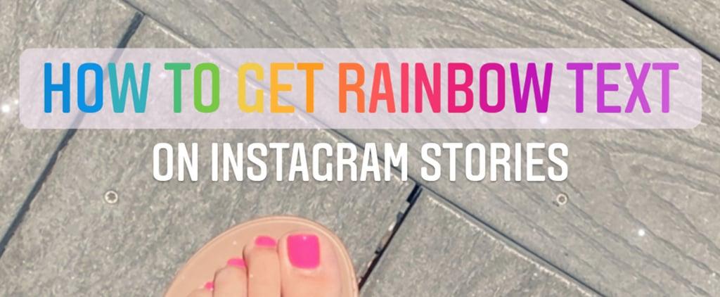 How to Do Rainbow Text on Instagram Stories | TikTok Hack