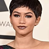 Zendaya's Plum Lips and Eyes at the Grammy Awards in 2015