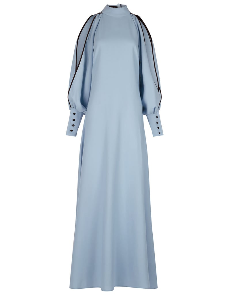 Flow the Label Light Blue Slit Sleeve Maxi Dress