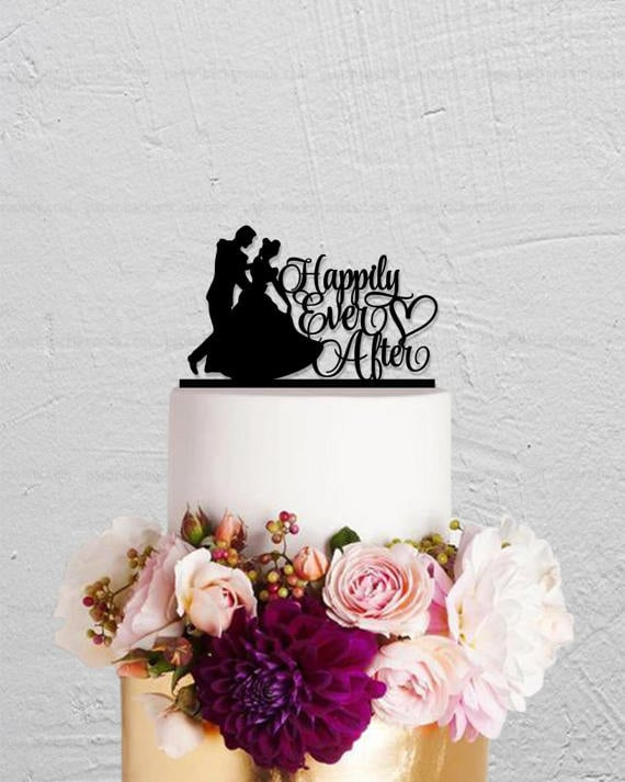 Cinderella Happily Ever After Cake Topper 15 Disney Wedding