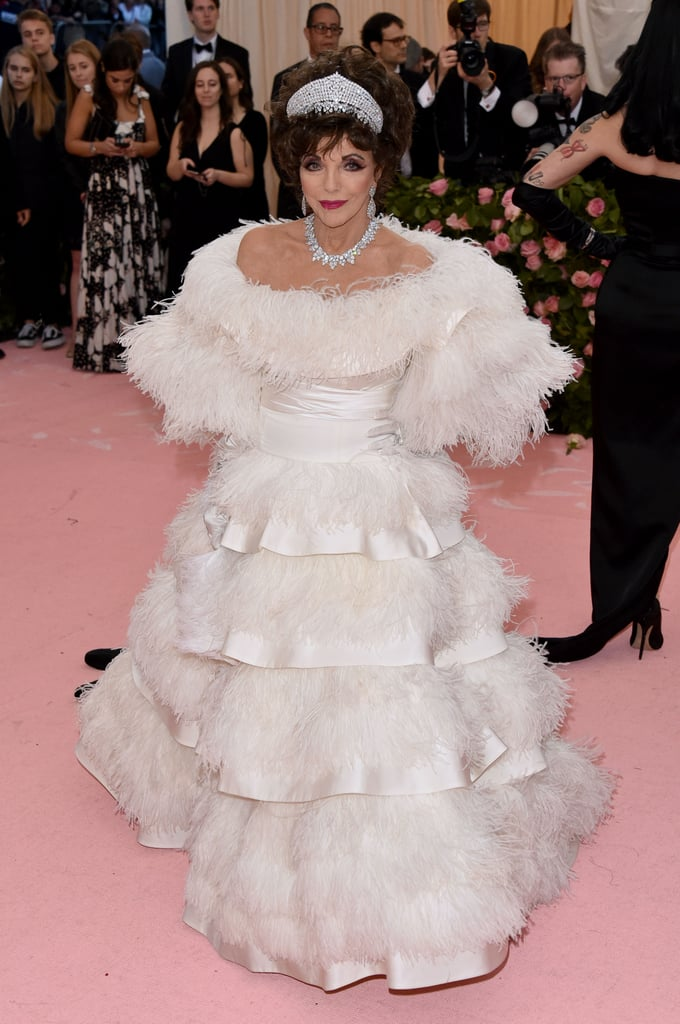 Joan Collins at the 2019 Met Gala