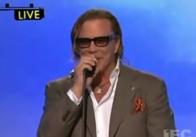 Mickey Rourke's Independent Spirit Awards Speech