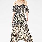 Rebecca Taylor Mixed-Print Off-Shoulder Dress