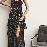Alice + Olivia Luella Asymmetrical Ruffle Maxi Dress