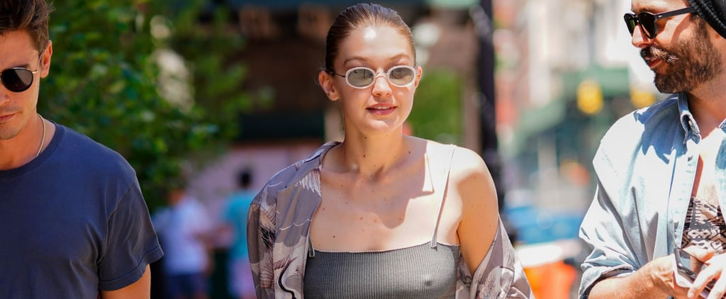Gigi Hadid's Ribbed Tank Top in New York 2018