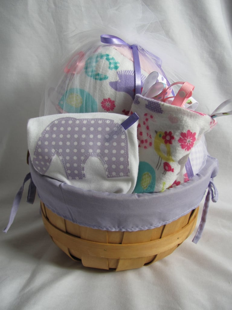 Purple Alphabet Jungle Gift Basket