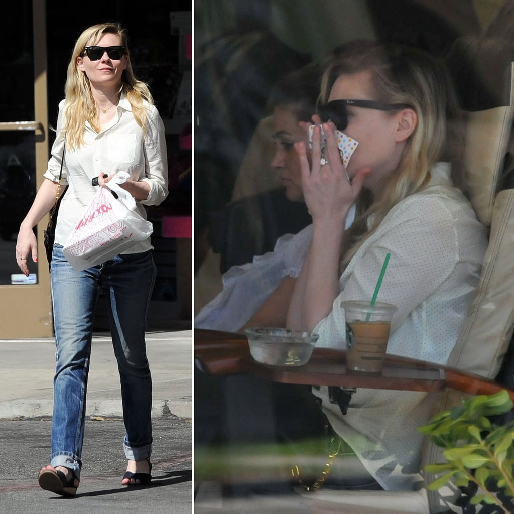 Kirsten Dunst Steps Out With a Big Ring