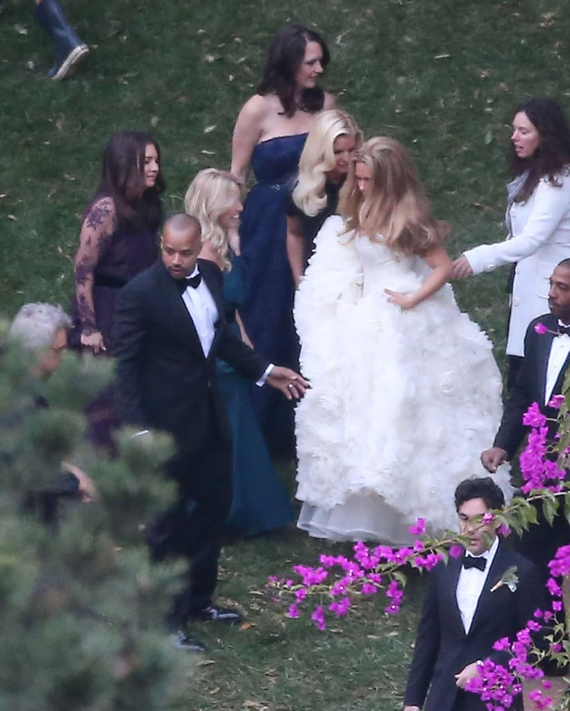 CaCee Cobb and Donald Faison married at Zach Braff's home.