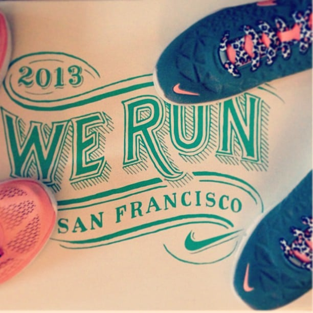 And we're off! Nothing like a few pairs of new Nikes to get us in the mood for the next three months of training.
