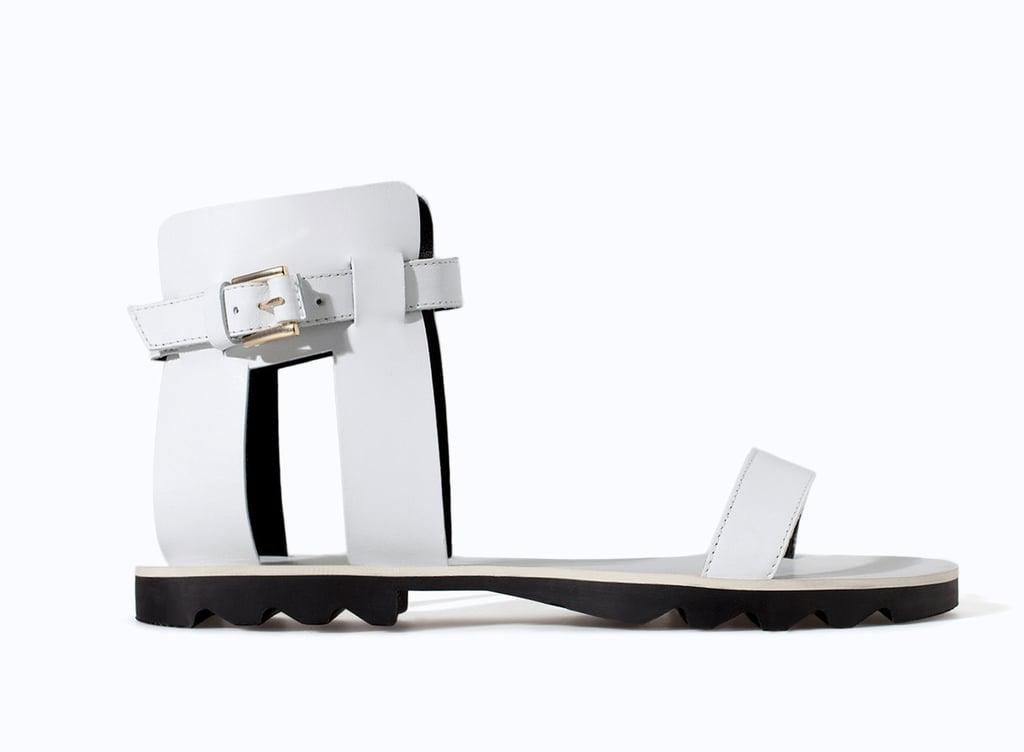Zara Ankle-Strap Flat Sandals ($70)