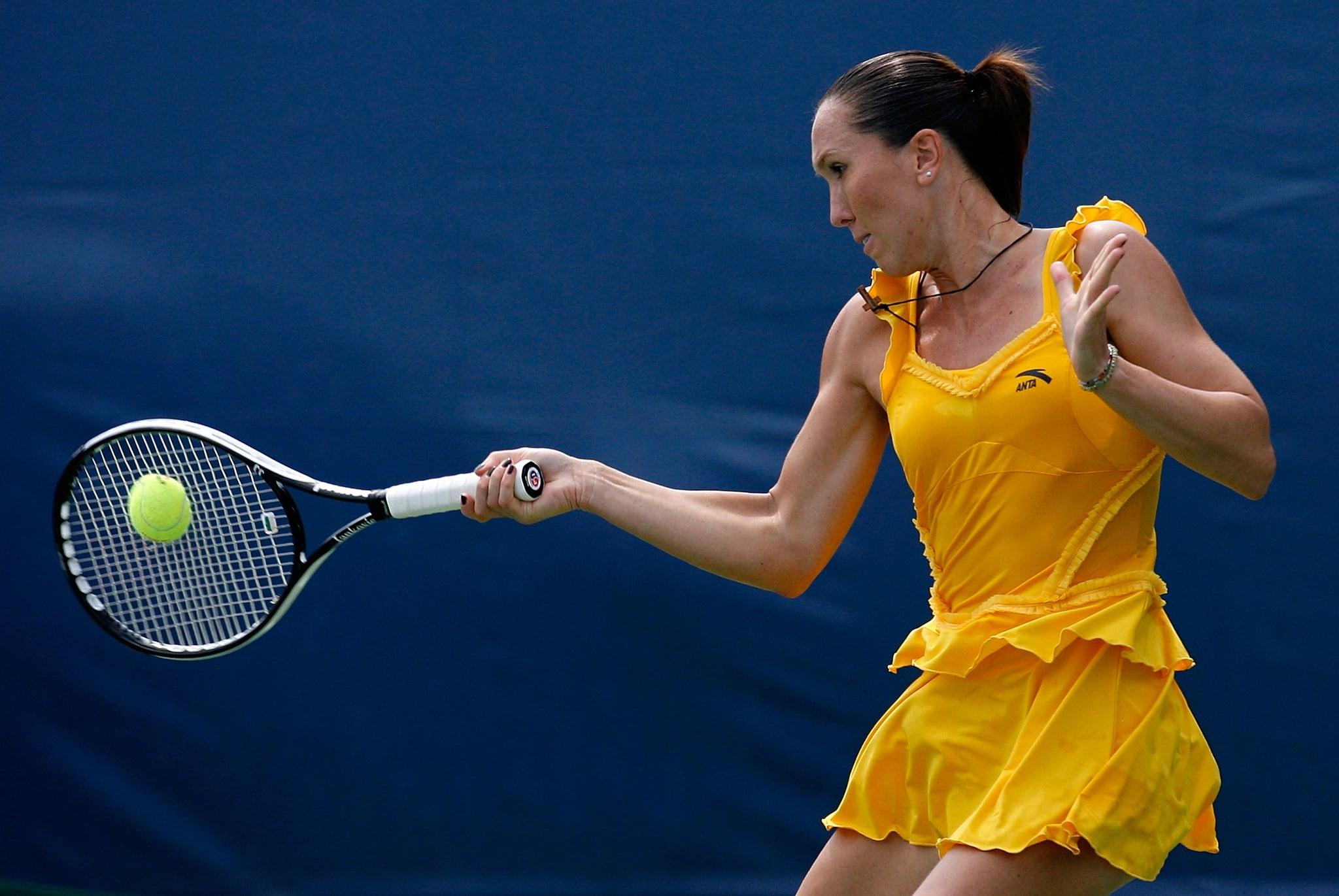 Jelena Jankovic wore a yellow tutu-inspired tennis dress in 2009.