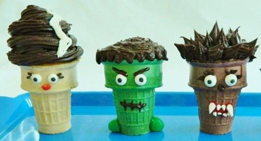 Creepy Cupcake Cones