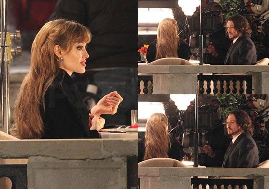Photos of Jolie and Depp