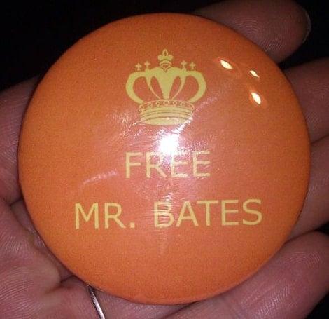 """Free Mr. Bates"" button"