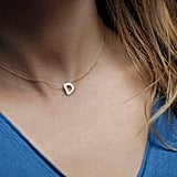 Capucinne Solid 14K Gold Initial Necklace