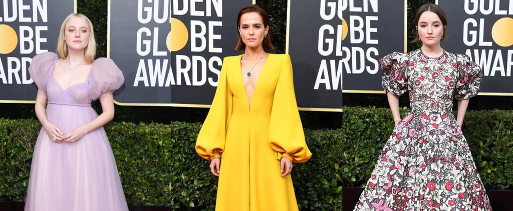 Puff Sleeve Gowns Dominated the Golden Globes Red Carpet