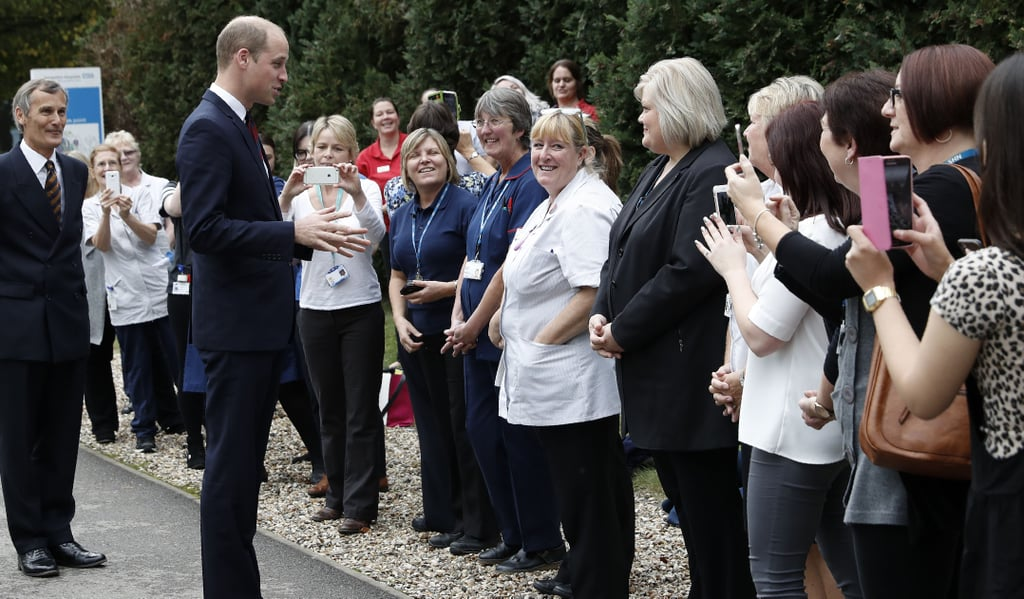 Prince William at Basingstoke and North Hampshire Hospital