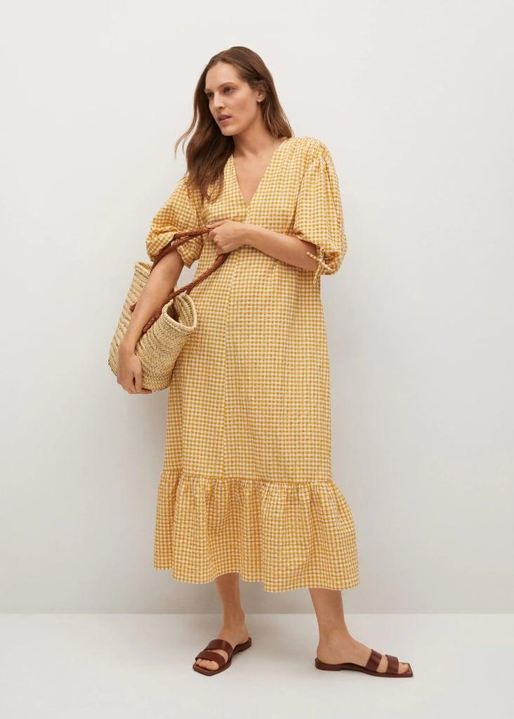 For a Bright Pop: Mango Gingham Check Cotton Dress