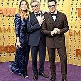 Annie Murphy, Eugene Levy, and Dan Levy at the 2019 Emmys